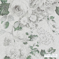 Bailey Griffin - Be42520-341 - Albrighton - Ivy    Curtain & Upholstery fabric - Grey, Silver, White, Floral, Garden, Linen and Linen Look, Natural Fibre, Traditional, Print