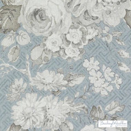 Bailey Griffin - Be42520-619 - Albrighton - Seaglass  | Curtain & Upholstery fabric - Silver, Floral, Garden, Linen and Linen Look, Natural Fibre, Traditional, Dry Clean