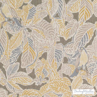 Bailey Griffin - Be42583-174 - Waddesdon - Graphite    - Brown, Gold,  Yellow, Floral, Garden, Linen and Linen Look, Natural Fibre, Tropical, Dry Clean, Natural, Print, Birds