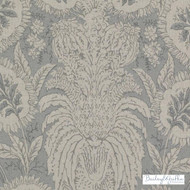 Bailey Griffin - Be42587-619 - Ricasoli - Seaglass    - Beige, Grey, Silver, Floral, Garden, Linen and Linen Look, Natural Fibre, Turquoise, Teal, Dry Clean, Natural, Print