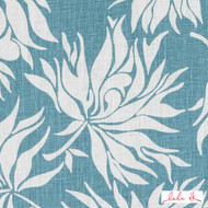 Lulu DK - Le42546-250 - Bella - Sea Green  | - Blue, Floral, Garden, Linen and Linen Look, Midcentury, Natural Fibre, Tropical, Turquoise, Teal, Dry Clean, Natural, Print