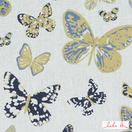 Lulu DK - Le42547-56 - Aquila - Blue/Gold  | - Beige, Blue, Gold,  Yellow, Linen and Linen Look, Natural Fibre, Pink, Purple, Animals, Animals - Fauna, Dry Clean, Natural