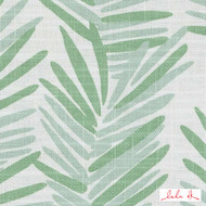 Lulu DK - Le42554-254 - Riviera - Spring Green  | - Floral, Garden, Linen and Linen Look, Midcentury, Natural Fibre, Tropical, Turquoise, Teal, Abstract, Dry Clean, Natural