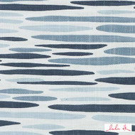 Lulu DK - Le42557-563 - Island - Lapis  | - Blue, Linen and Linen Look, Midcentury, Natural Fibre, Stripe, Abstract, Dry Clean, Natural, Print, Standard Width