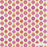 120215 'Daisy' | Curtain & Upholstery fabric - Fire Retardant, Floral, Garden, Harlequin, Midcentury, Natural fibre, Washable, Kids, Children, Many-Coloured, Pink - Purple
