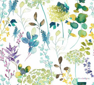Bluebellgray - Botanical - Lupin - 58017-101    Curtain & Upholstery fabric - Blue, Floral, Garden, Multi-Coloured, Natural Fibre, Natural, Standard Width, Watercolour