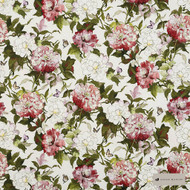 James Dunlop - Camellia - Rosehip - 12622-103    Curtain & Upholstery fabric - Red, Floral, Garden, Natural Fibre, Pink, Purple, Domestic Use, Natural, Standard Width