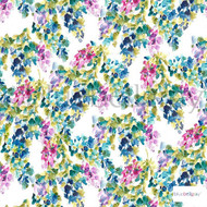 Bluebellgray - Catrin - Holly - 57226-101    Curtain & Upholstery fabric - Blue, Floral, Garden, Multi-Coloured, Natural Fibre, Natural, Top of Bed, Standard Width