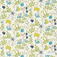 Harlequin Joelle 120122  | Curtain & Upholstery fabric - Blue, Fire Retardant, Craftsman, Floral, Garden, Harlequin, Midcentury, Natural fibre, Many-Coloured, Domestic Use