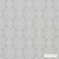 Harlequin Odetta 131574  | Curtain Fabric - Grey, Harlequin, Medallion, Synthetic, Transitional, Commercial Use, Domestic Use, Suitable for Blinds