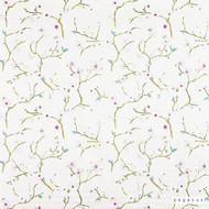 Pegasus - Spring - Rosehip - 30301-101  | Curtain Fabric - White, Farmhouse, Floral, Garden, Natural Fibre, Pattern, Natural, Top of Bed, White, Standard Width