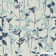 Harlequin Nettles 110172  | Wallpaper, Wallcovering - Blue, Eclectic, Floral, Garden, Harlequin, Commercial Use, Domestic Use