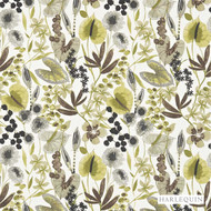 120332 '' | Curtain & Upholstery fabric - Fire Retardant, Green, Fiber blend, Floral, Garden, Harlequin, Many-Coloured, Domestic Use, Suitable for Blinds, FR Treatable