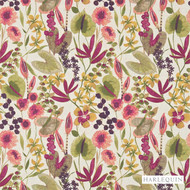 Harlequin Nalina 120334  | Curtain & Upholstery fabric - Contemporary, Fibre Blends, Floral, Garden, Harlequin, Pink, Purple, Domestic Use, Standard Width