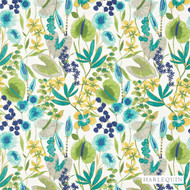 Harlequin Nalina 120335  | Curtain & Upholstery fabric - Blue, Contemporary, Fibre Blends, Floral, Garden, Harlequin, Domestic Use, Standard Width