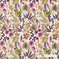 Harlequin Nalina 120336  | Curtain & Upholstery fabric - Contemporary, Fibre Blends, Floral, Garden, Harlequin, Pink, Purple, Domestic Use, Standard Width