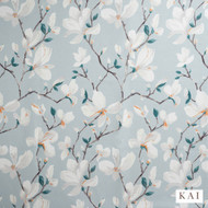 Kai - Loxley Contract - Amba Teal Nevada Fr  | Curtain Fabric - Blue, Floral, Garden, Synthetic, Velvet/Faux Velvet, Commercial Use, Domestic Use, Standard Width