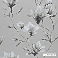 Harlequin Lotus 110880  | Wallpaper, Wallcovering - Fire Retardant, Grey, Asian, Floral, Garden, Harlequin, Chinoise, Domestic Use