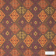 Linwood - Lf1234C_003 Sivas  | Curtain & Upholstery fabric - Gold,  Yellow, Fibre Blends, Kilim, Multi-Coloured, Pattern, Weave, Domestic Use, Standard Width