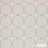 Harlequin Cheree 131069  | Curtain Fabric - Grey, Diaper, Fibre Blends, Harlequin, Medallion, Midcentury, Washable, Domestic Use, Standard Width