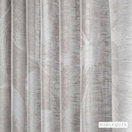 131496 ''   Curtain Fabric - Fire Retardant, Grey, Floral, Garden, Harlequin, Natural fibre, Transitional, Washable, Domestic Use, Natural, Suitable for Blinds, FR Treatable