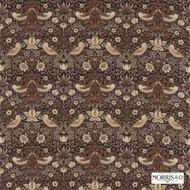 220315 'Strawberry' | Curtain & Upholstery fabric - Brown, Fire Retardant, Art Noveau, Craftsman, Natural fibre, Traditional, Many-Coloured, Animals, Domestic Use, Natural