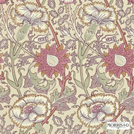 Morris and Co -  Pink & Rose 212566  | Wallpaper, Wallcovering - Fire Retardant, Red, Art Noveau, Craftsman, Floral, Garden, Red, Many-Coloured, Pink - Purple, Domestic Use
