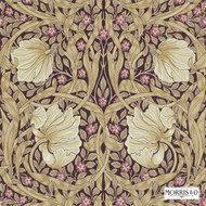 Morris and Co -  Pimpernel 210390  | Wallpaper, Wallcovering - Fire Retardant, Art Noveau, Craftsman, Floral, Garden, Pink - Purple, Commercial Use, Domestic Use