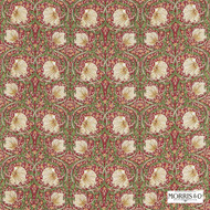 Morris and Co - Pimpernel 224493  | Curtain & Upholstery fabric - Art Noveau, Craftsman, Floral, Garden, Natural Fibre, Pink, Purple, Commercial Use, Domestic Use, Natural
