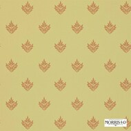 Morris and Co -  Pearwood DMORPE106  | Wallpaper, Wallcovering - Fire Retardant, Gold,  Yellow, Craftsman, Floral, Garden, Foulard, Small Scale, Traditional, Commercial Use, Domestic Use