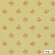 Morris and Co -  Pearwood DMORPE106  | Wallpaper, Wallcovering - Fire Retardant, Gold,  Yellow, Craftsman, Floral, Garden, Foulard, Small Scale, Traditional, Commercial Use
