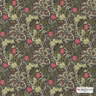 Morris and Co -  Morris and Co -  Seaweed 214716  | Wallpaper, Wallcovering - Fire Retardant, Green, Art Noveau, Craftsman, Floral, Garden, Many-Coloured, Domestic Use