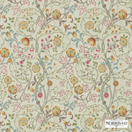 214730 'Mary' | - Fire Retardant, Craftsman, Floral, Garden, Jacobean, Traditional, Many-Coloured, Pink - Purple, Domestic Use