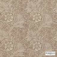 210366 'Marigold' | - Brown, Fire Retardant, Art Noveau, Craftsman, Floral, Garden, Tan - Taupe, Domestic Use