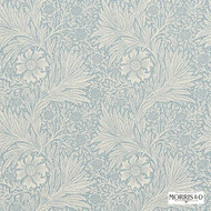 Morris and Co -  Marigold 210368  | Wallpaper, Wallcovering - Blue, Fire Retardant, Art Noveau, Craftsman, Floral, Garden, Domestic Use