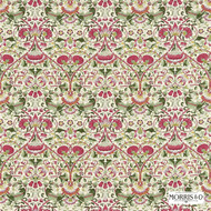 222524 '' | Curtain & Upholstery fabric - Fire Retardant, Red, Art Noveau, Craftsman, Damask, Floral, Garden, Natural fibre, Red, Traditional, Domestic Use, Natural