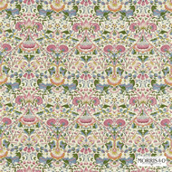 222525 '' | Curtain & Upholstery fabric - Fire Retardant, Art Noveau, Craftsman, Damask, Floral, Garden, Natural fibre, Traditional, Pink - Purple, Domestic Use, Natural