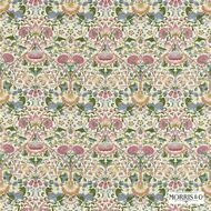 Morris and Co -  Lodden 222525  | Curtain & Upholstery fabric - Fire Retardant, Art Noveau, Craftsman, Damask, Floral, Garden, Natural fibre, Traditional, Pink - Purple