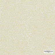 Morris and Co - Lily Leaf DMCOLI201  | Curtain & Upholstery fabric - Gold,  Yellow, White, Farmhouse, Floral, Garden, Natural Fibre, Tan, Taupe, Domestic Use, Natural