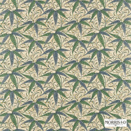 Morris and Co -  Bamboo 222526  | Curtain & Upholstery fabric - Fire Retardant, Green, Craftsman, Fiber blend, Floral, Garden, Domestic Use, FR Treatable, Suitable for Blinds