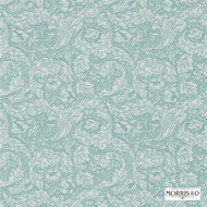 Morris and Co -  Bachelors Button 214732  | Wallpaper, Wallcovering - Blue, Fire Retardant, Craftsman, Damask, Floral, Garden, Traditional, Domestic Use