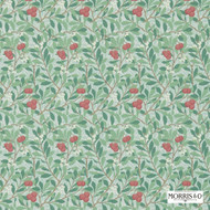 Morris and Co -  Arbutus 214719  | Wallpaper, Wallcovering - Fire Retardant, Green, Farmhouse, Floral, Garden, Many-Coloured, Domestic Use