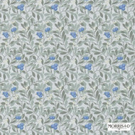 Morris and Co -  Arbutus 214721  | Wallpaper, Wallcovering - Blue, Fire Retardant, Farmhouse, Floral, Garden, Many-Coloured, Domestic Use