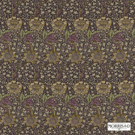 Morris and Co -  Kennet 220323  | Curtain & Upholstery fabric - Fire Retardant, Art Noveau, Craftsman, Floral, Garden, Natural fibre, Pink - Purple, Commercial Use, Natural