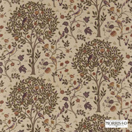 220326 'Tree' | Curtain & Upholstery fabric - Brown, Fire Retardant, Craftsman, Floral, Garden, Natural fibre, Many-Coloured, Commercial Use, Domestic Use, Natural