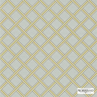 Morris and Co -  Gilt Trellis DMOWGI101  | Wallpaper, Wallcovering - Fire Retardant, Gold,  Yellow, Craftsman, Domestic Use, Lattice, Trellis