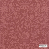 210356 'Garden' | - Fire Retardant, Red, Art Noveau, Craftsman, Damask, Red, Traditional, Commercial Use, Domestic Use