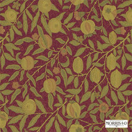 230287 'Fruit' | Curtain & Upholstery fabric - Red, Craftsman, Fiber blend, Floral, Garden, Jacobean, Red, Traditional, Commercial Use, Domestic Use, Suitable for Blinds