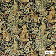 222535 'Forest'   Curtain & Upholstery fabric - Fire Retardant, Gold - Yellow, Art Noveau, Craftsman, Jacobean, Natural fibre, Traditional, Velvet, Domestic Use, Natural
