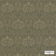 230293 'Imperial' | Curtain & Upholstery fabric - Fire Retardant, Green, Art Noveau, Craftsman, Damask, Natural fibre, Traditional, Commercial Use, Domestic Use, Natural